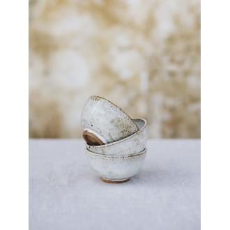 miska čajová bílá kropenatá
