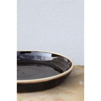 talíř vysoký černý